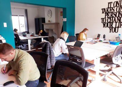 Espace de travail Jem'connecte Co-working